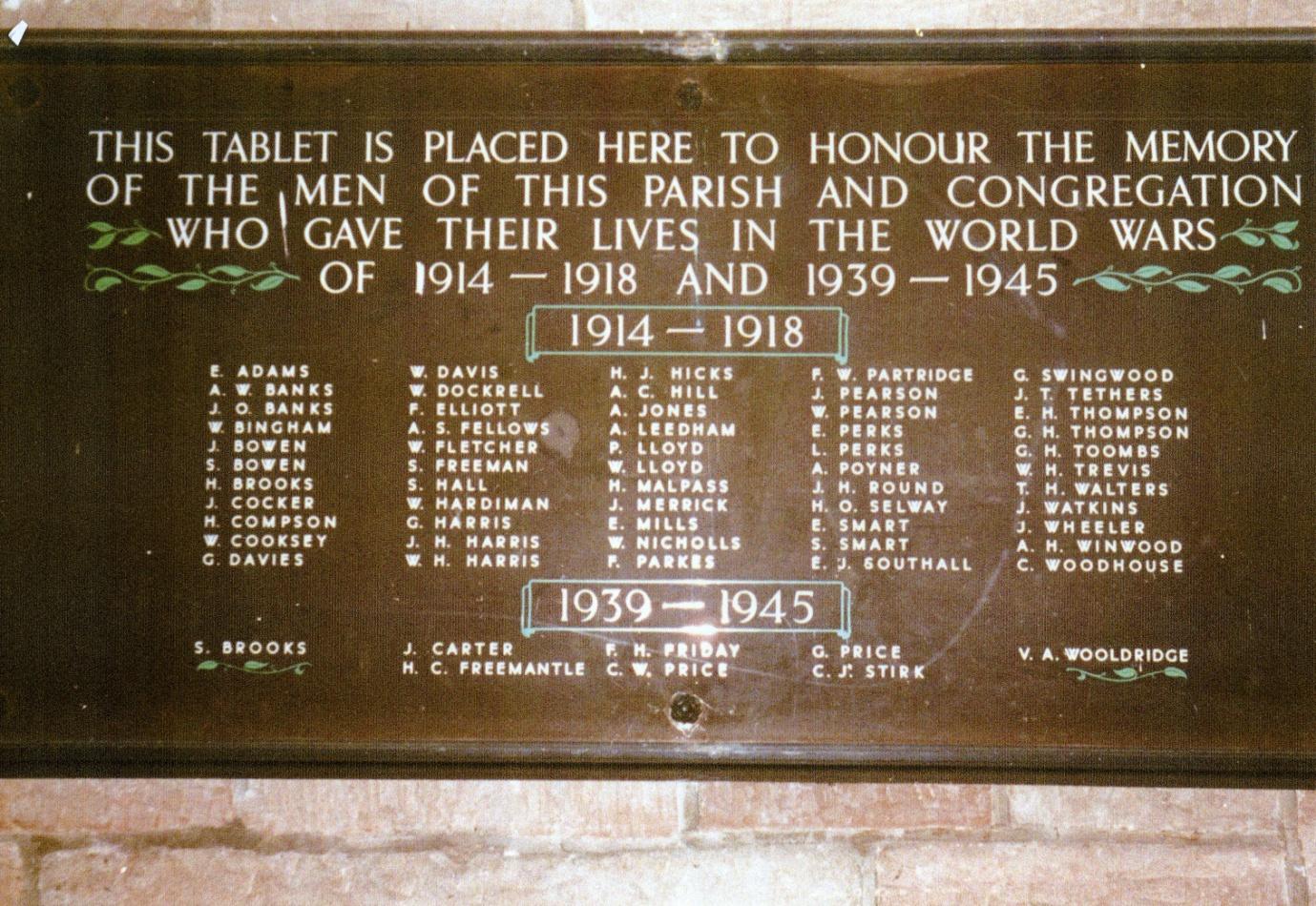 Stourbridge St. John Memorial