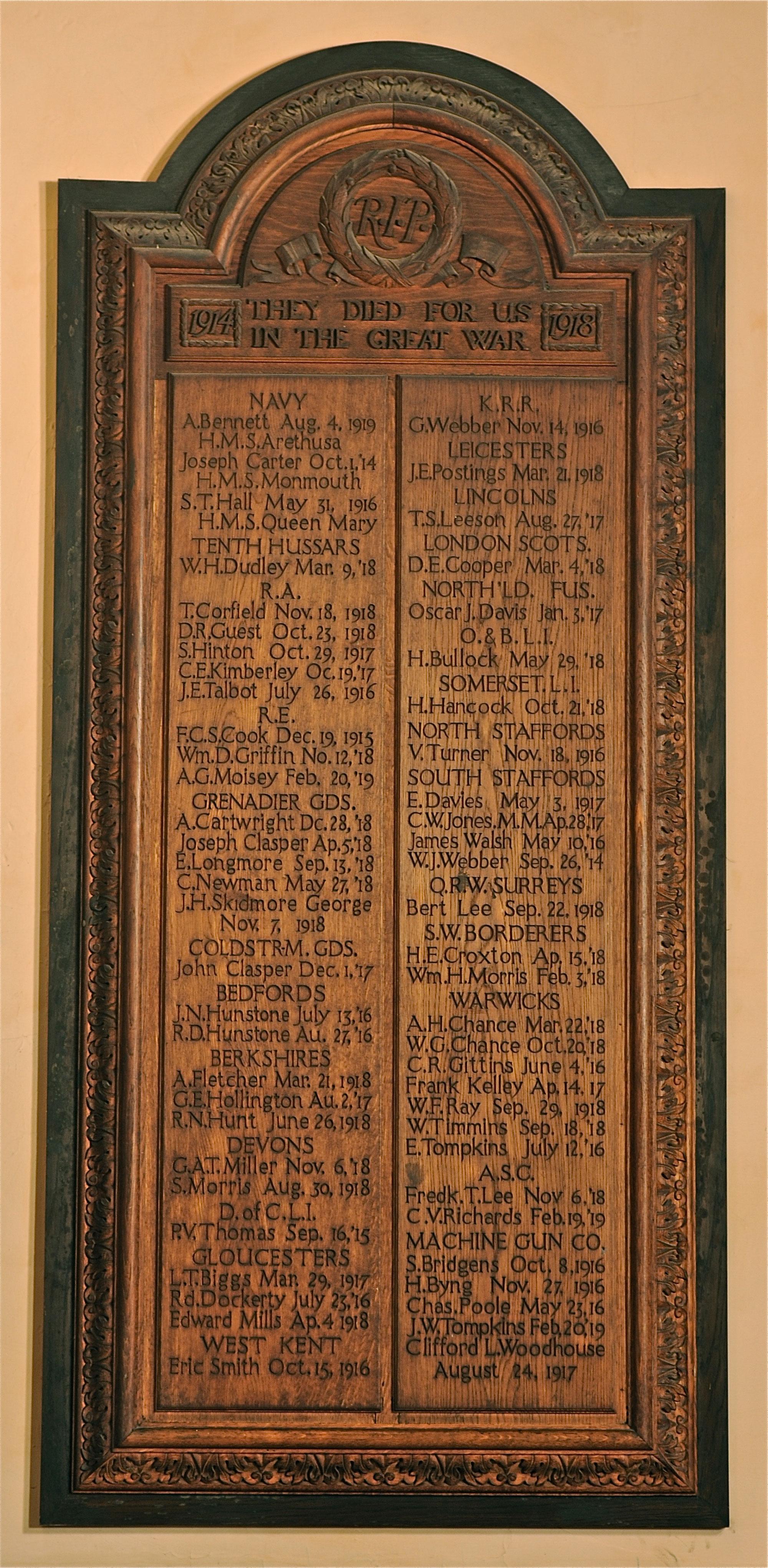 Stourbridge St. Thomas Memorial